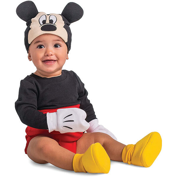 Mickey Costume Beanie and Gloves for Below Two Years