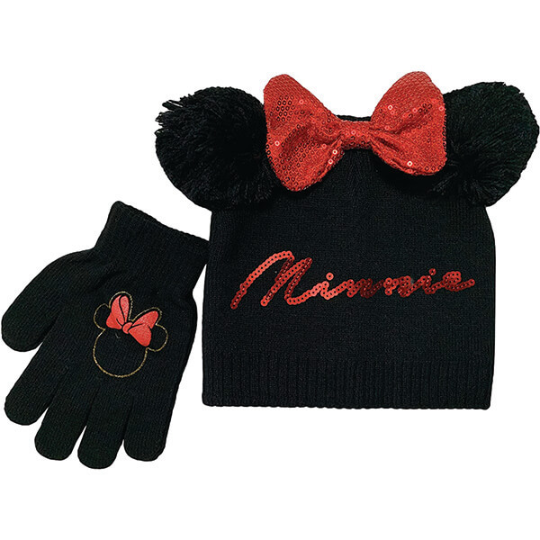 Minnie Mouse Beanie and Gloves for 4-12 Years