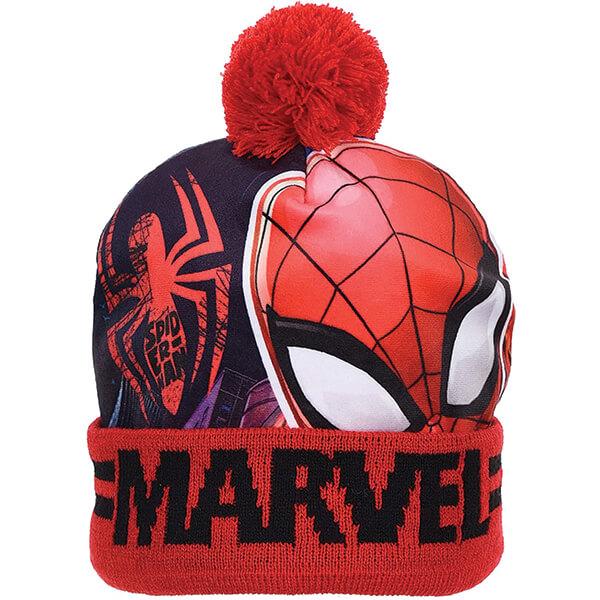 Pom-pom Spiderman Beanie for Two To Four Years