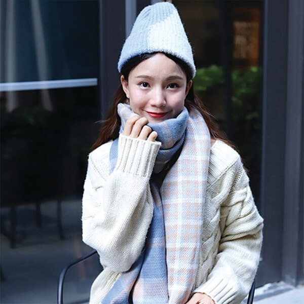 Stretchy Color Block Beanie