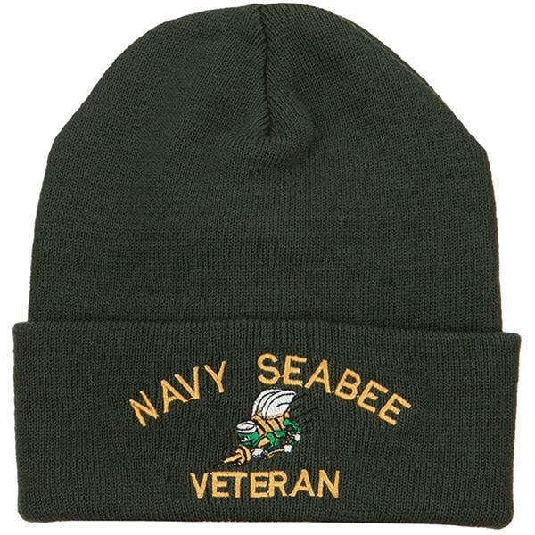 US Navy Seabee Veteran Bee Beanie