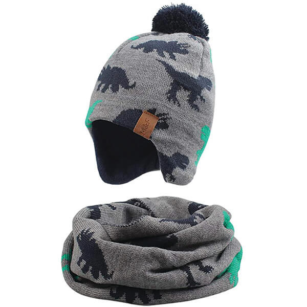 Dinosaur Beanie With Scarf at Affordable Price Under 8 Years