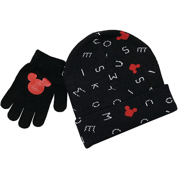 Disney Mickey Beanie and Gloves For Kids