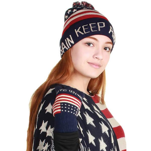 Keep America Great Again USA Flag Beanie