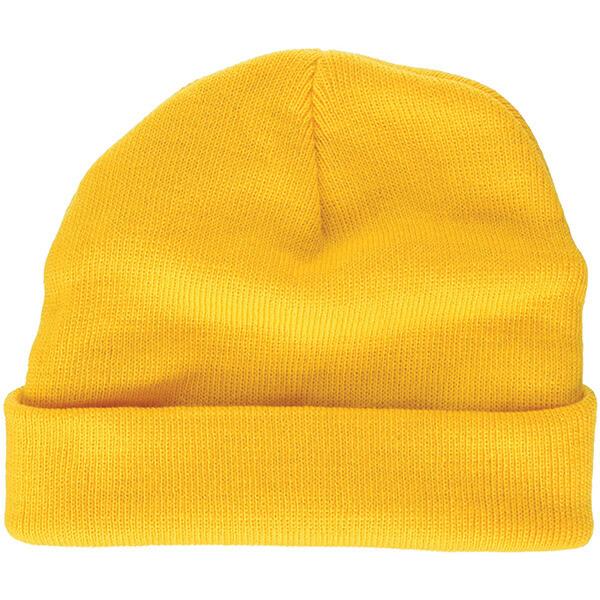Lightweight Knitted Cuffless Yellow Beanie
