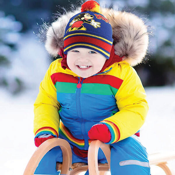Multicolored Jacquard Striped Beanie for 2-4 Years