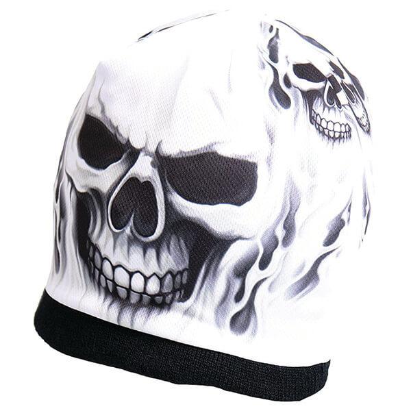 Sublimated Skull Print Beanie
