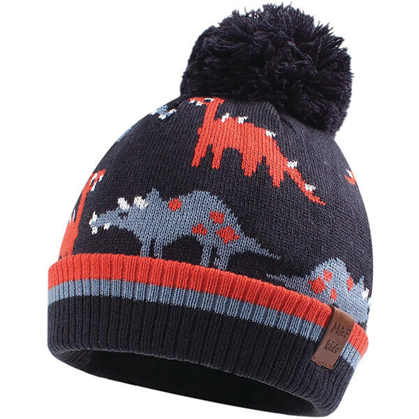 Warm Well Made Dinosaur Beanies for 2-10 Years
