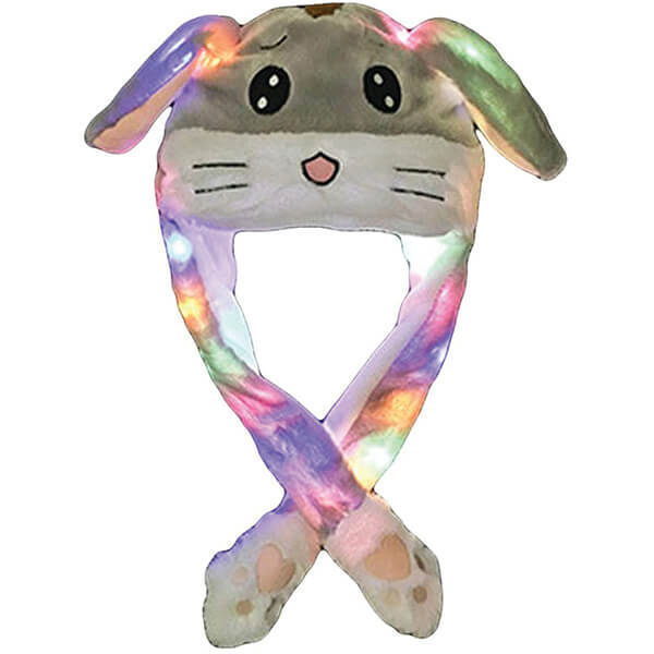 Breathable Cotton Bunny Beanies with LED Lights