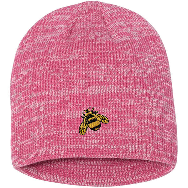 Casual Style Cuffless Bumble Bee Beanie