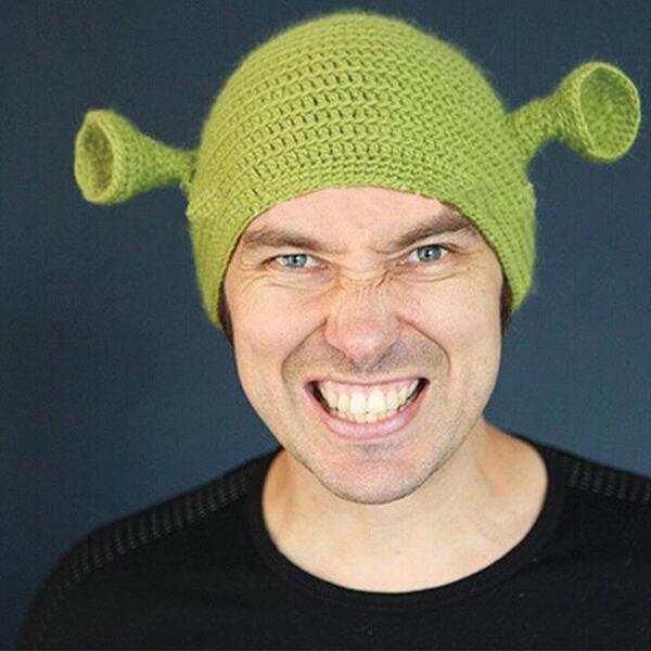 Cotton Shrek Beanie for All Seasons