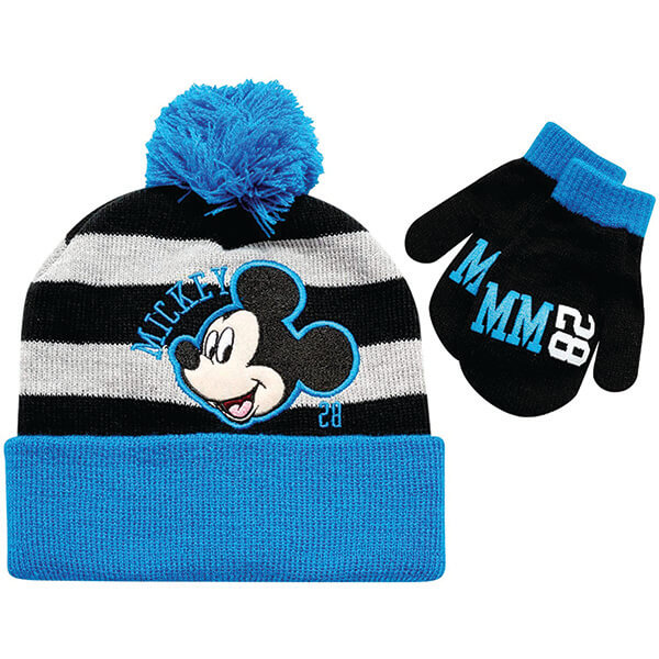 Disney Mickey Mouse Ears Beanie And Mittens