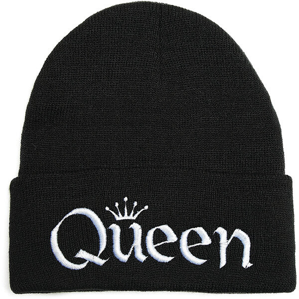 Embroidery Queen Beanie for Women