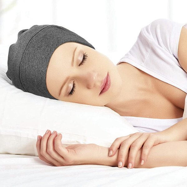 Sleeping Beanies with Elastic Strap for Long Hair