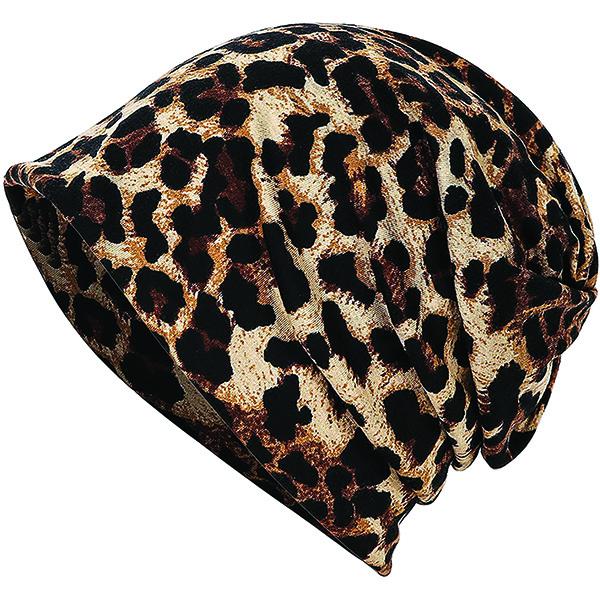 Stylish Slouchy Leopard Print Beanie for All Head Sizes