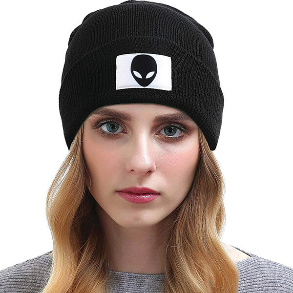 Alien Patch Beanie for Men and Women