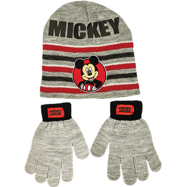 Mickey Beanie and Gloves for Boys