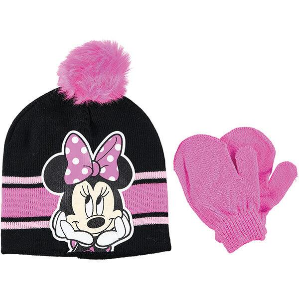 Newborn Pink Minnie Mouse Beanie and Gloves