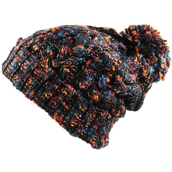 Pompom Multi-Colored Beanie for All