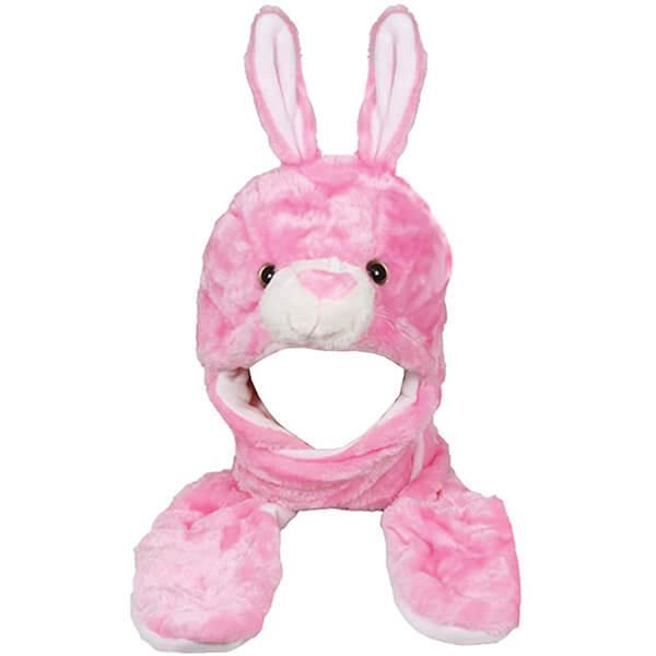 Soft Warm Multifunctional Bunny Beanie