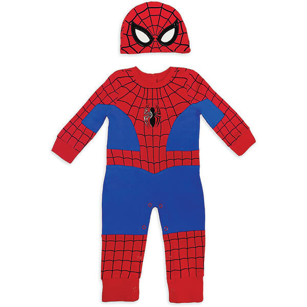 Spiderman Costume With Beanie for 0-24 Months
