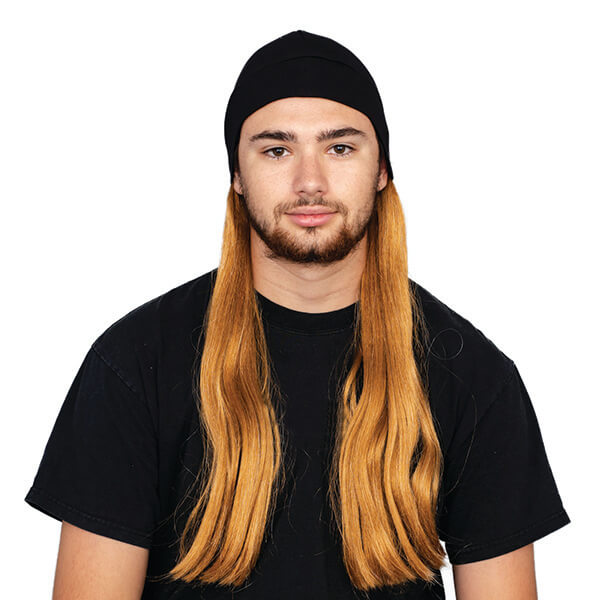 Sturdy Fit Beanie With Brown Hair