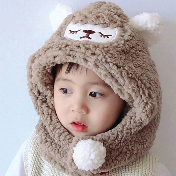 Warm Soft to Touch Furry Beanie for Toddlers