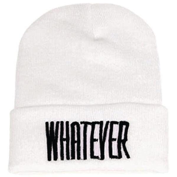 Whatever Word White Beanie