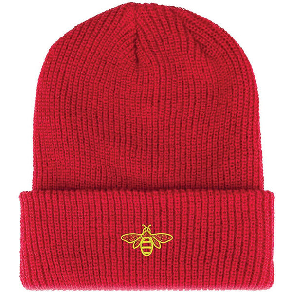 Cuffed Embroidered Bee Beanie