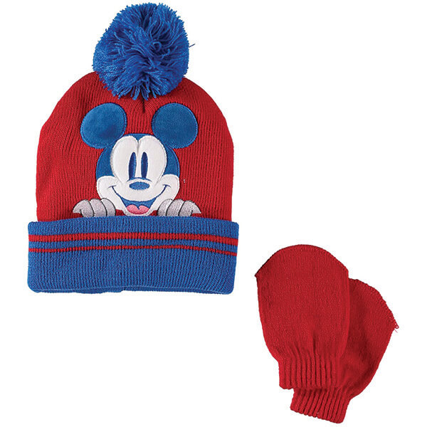 Disney Mickey Mouse Beanie with Ears and Mittens