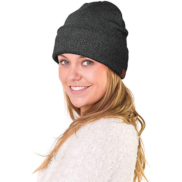 Double Layered Lightweight Knitted Youth Beanie