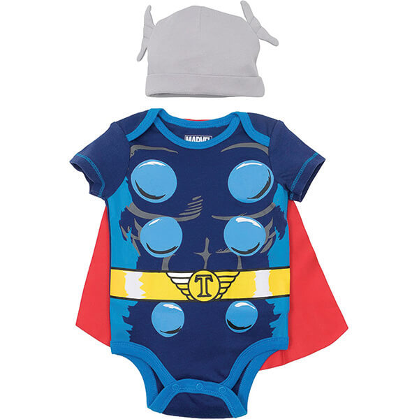 Mighty Thor Costume With Beanie for 0-24 Months