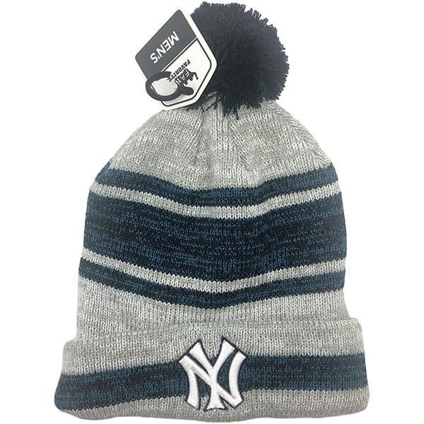 New York Yankees Cuffed Pom-Pom Men's Beanie