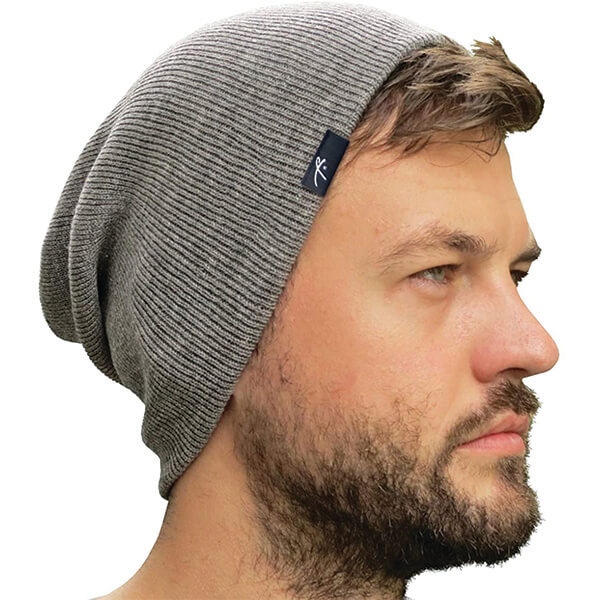 Not Too Baggy Slouchy Rolled  Beanie for All Head Sizes