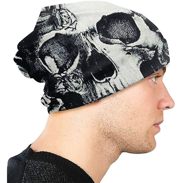 Slouchy Skull Beanie for Men and Women
