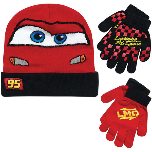 Worth Investing Reversible Beanie With Two Pairs Of Gloves