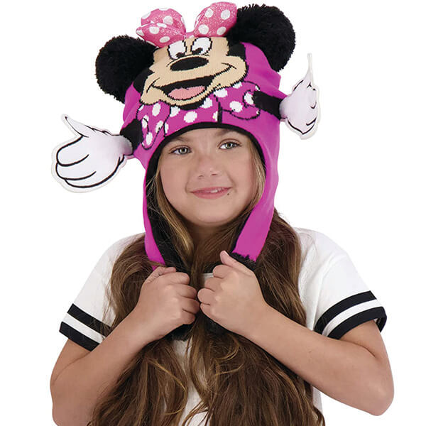 Flapping Minnie Mouse Beanie For Little Girls