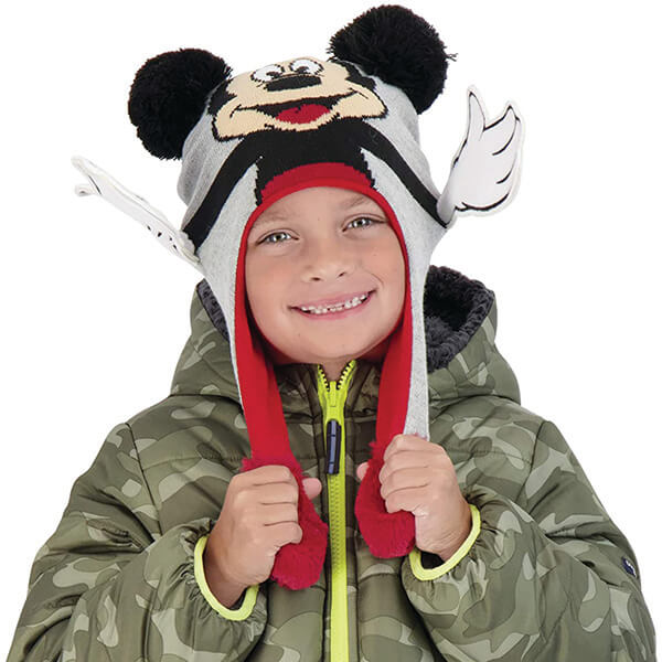 Mickey Mouse Ears Beanie Squeeze and Fun Flap