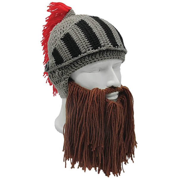 Multifunctional Beanie With Detachable Faceguard and Beard