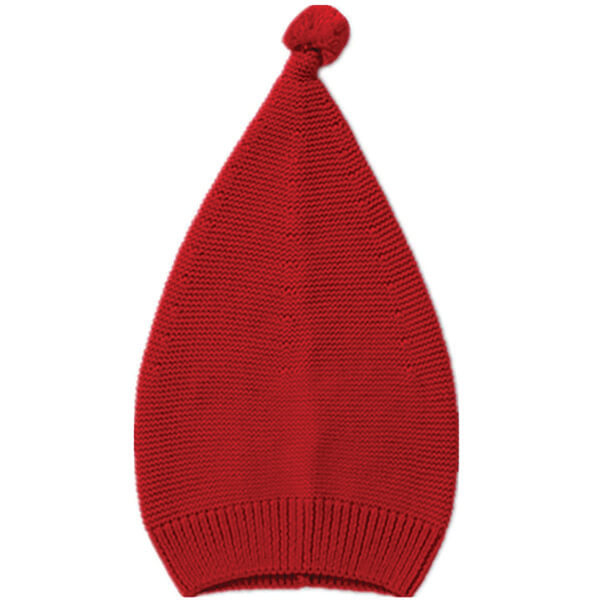 Ribbed Knit Cotton Knot Beanie Aged Between 4 Years
