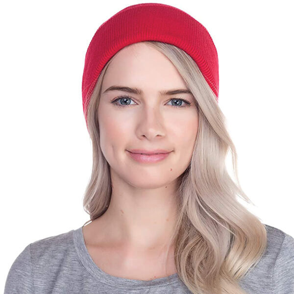 Safety Reflective Red Beanie for Darker Weathers