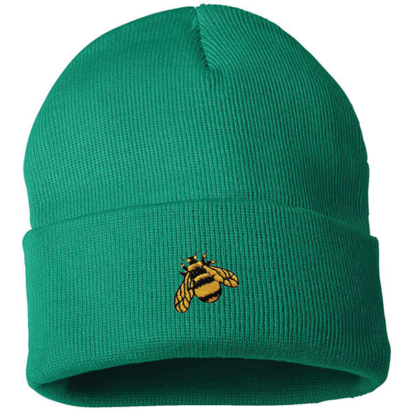 Simple Bee Embroidered Beanie