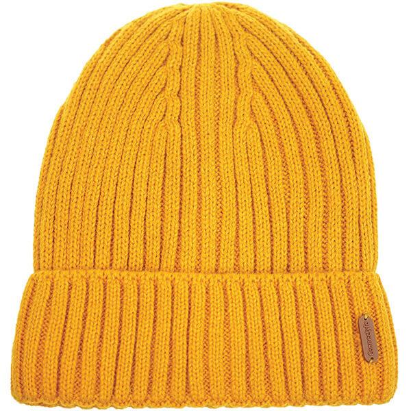 Wool Reversible Black Yellow Beanie