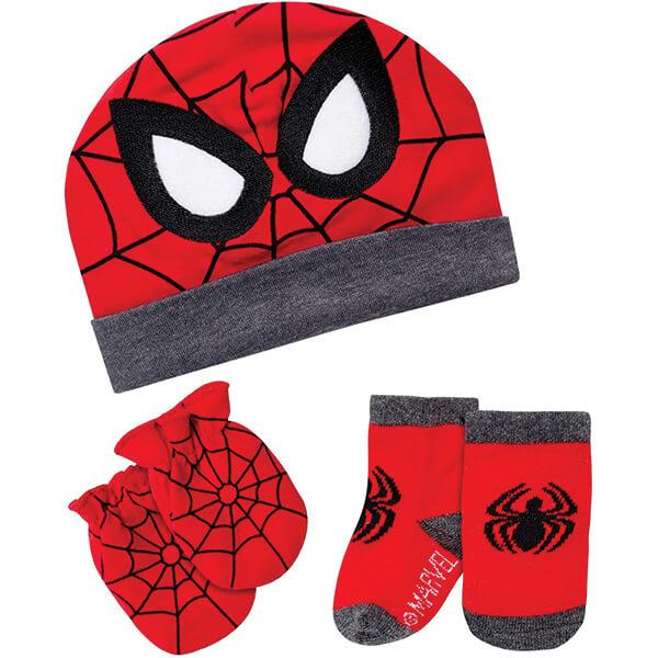 100% Cotton Spiderman Beanie for 0-3 Months Newborns