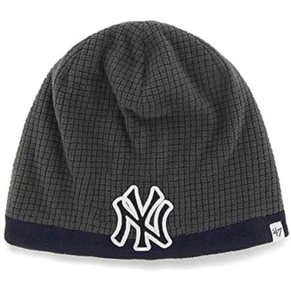 47 MLB Kid's Cuffless Grid Fleece Beanie