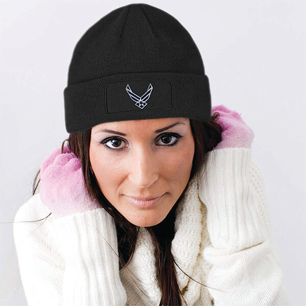 Air Force Patch Beanie for Men & Women