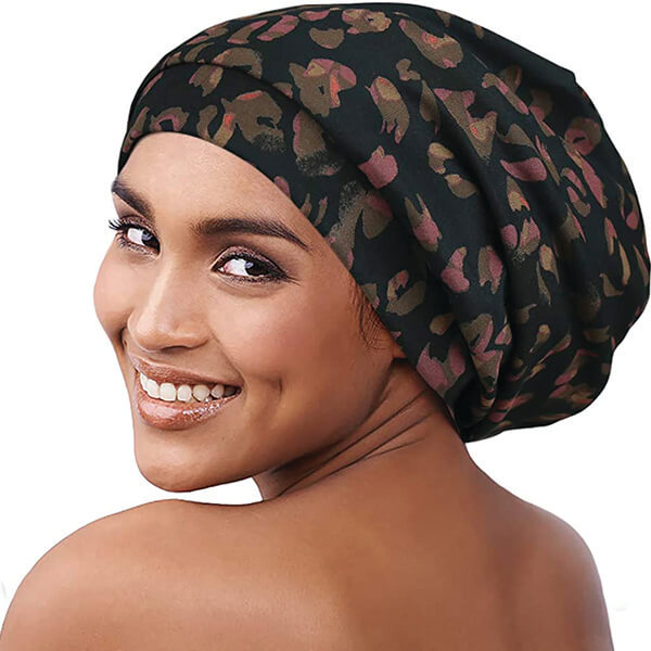 Floral Print Baggy Style Beanie for All Hairstyles