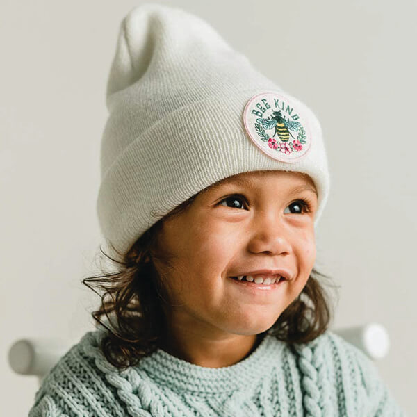 Kids Beanie With Embroidered Patch (Age 1- 4)