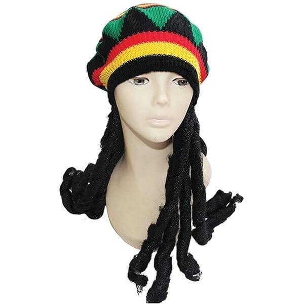 Rasta Wig Beanie With Dreadlocks