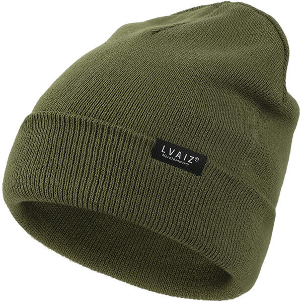 Thick Stretchable Rolled Up Beanie for All Head Sizes